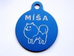 Plastová psí známka