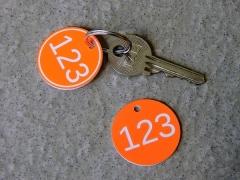 Plastové visačky ke klíčům